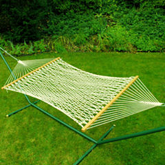 11-Foot Single Cotton Rope Hammock