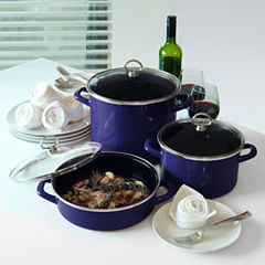 Chantal 6-pc. Steel Dishwasher Safe Cookware Set