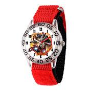 Marvel Boys Red Captain America Civil War Time Teacher Plastic Strap Watch W003120