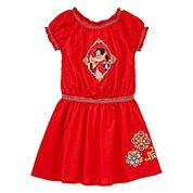 Disney Elena Short-Sleeve Woven Dress - Girls 2-10