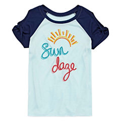Arizona Short Sleeve Scoop Neck T-Shirt-Big Kid Girls