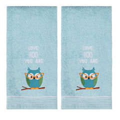 Saturday Knight 2-Pack Love Hoo You Are Hand Towel Set