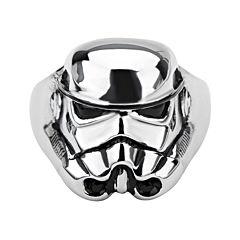 Star Wars® Stormtrooper Mens Stainless Steel Ring