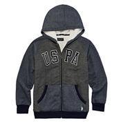 U.S. Polo Assn.® Long-Sleeve Sherpa Hoodie - Boys 8-20