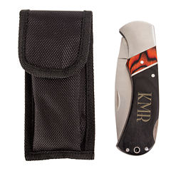 Personalized Two-Tone Wood Handle Pocket Knife
