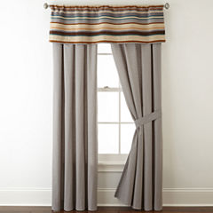 JCPenney Home™ Tapestry Stripe 2-Pack Rod-Pocket/Back-Tab Lined Curtain Panels