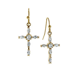 Symbols Of Faith Religious Jewelry Clear Drop Earrings