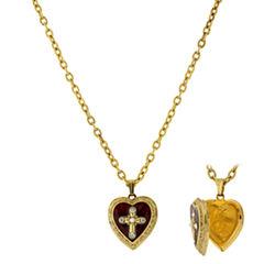 Symbols Of Faith Religious Jewelry Womens Locket Necklace