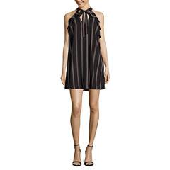 City Triangle Sleeveless A-Line Dress-Juniors