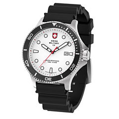 Swiss Military By Charmex Diving Mens Black Strap Watch-79292_9_F