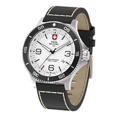Swiss Military By Charmex Infantry Mens Black Strap Watch-78344_5_E