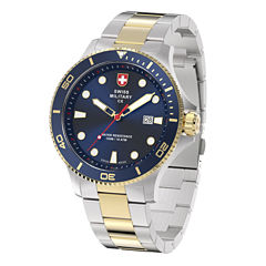 Swiss Military By Charmex Diving Mens Two Tone Bracelet Watch-79292_9_A