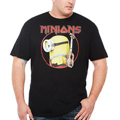 Short Sleeve Despicable Me Graphic T-Shirt-Big and Tall