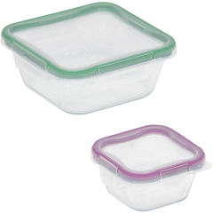 Snapware® Total Solution 4-pc. Square Glass Food Storage Set