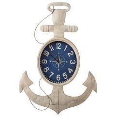 Ivory Anchor Wall Clock