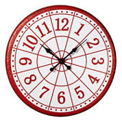 Red Target Wall Clock