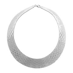 Sterling Silver Collar Necklace