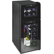 Wine Enthusiast® Silent 21-Bottle Dual-Zone Touchscreen Wine Refrigerator