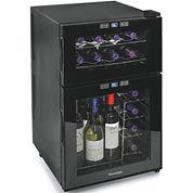 Wine Enthusiast® Silent 24-Bottle Dual-Zone Touchscreen Wine Refrigerator