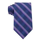 Stafford® Webster Grid Silk Tie - Extra Long