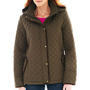 St. John's Bay® Quilted Midweight Jacket