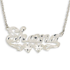 Personalized Diamond-Cut Sterling Silver Name Necklace