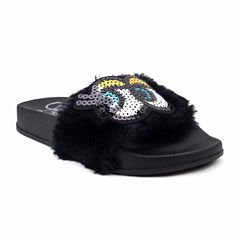Olivia Miller Kellie Novelty Girls Slide Sandals - Little Kids