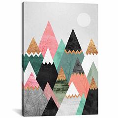 Icanvas Pretty Mountains Canvas Art