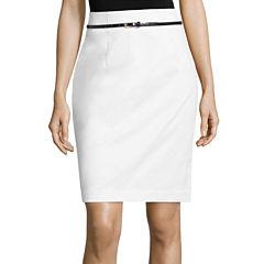 Worthington Belted Pencil Skirt