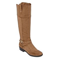 Liz Claiborne® Palermo Riding Boots - Wide Width, Wide Calf