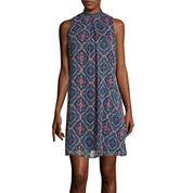 Speechless® Sleeveless Printed Chiffon Dress