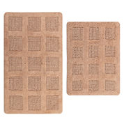 Perthshire Platinum Collection Square Honeycomb Reversible 2-pc. Bath Rug Set