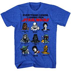 Short Sleeve Star Wars Graphic T-Shirt