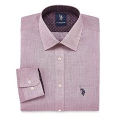 USPA Slim Fit Easy-Care Long Sleeve Dress Shirt