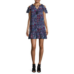 Libby Edelman Short Sleeve Cold Shoulder Dress