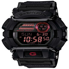 g shock men s watches for jewelry watches jcpenney casio® g shock mens black and red strap watch gd400 1