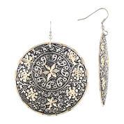 Decree® Round Patina Earrings