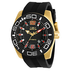 Invicta Aviator Mens Black Strap Watch-23531
