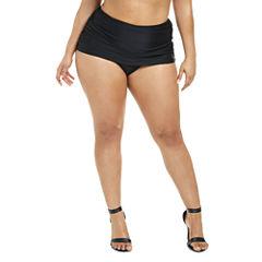 Fashion To Figure Antigua Ruched Swim Bottom-Plus