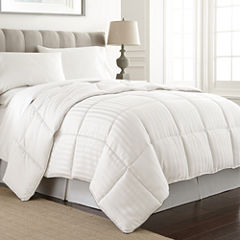 Pacific Coast Textiles Dobby Stripe Down Alternative Comforter Stripes Midweight Comforter