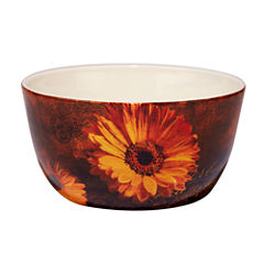 Certified International Gerber Daisy Fruit Bowl
