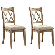 Signature Design by Ashley® Mestler Set of 2 Dining Side Chairs