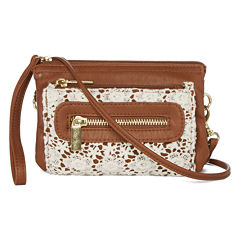 Arizona Triple Zip Crochet Crossbody Bag
