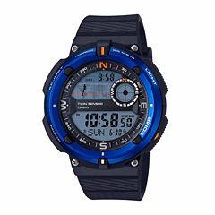 Casio Twin Sensor Mens Black Strap Watch-Sgw600h-2a