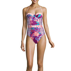 Social Angel Floral One Piece Swimsuit Juniors