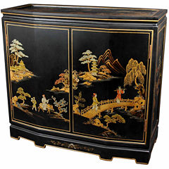 Oriental Furniture Ching Hall Accent Cabinet
