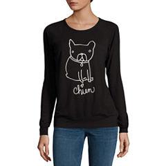 Buffalo Jeans Dog Graphic Cozy Sweatshirt Top