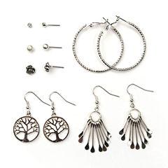 Arizona 6-pr. Silver-Tone Earring Set
