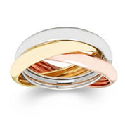10K Gold Tri-Color Roller Ring