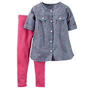 Carter's® 2-pc. Chambray Playwear Set - Baby Girls newborn-24m